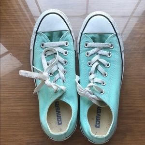 Mint Green Converse Chuck Taylors size 7